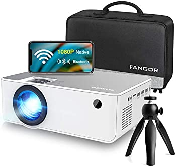 Fangor F-506 1080p 6500-Lumens WiFi/Bluetooth Portable Projector