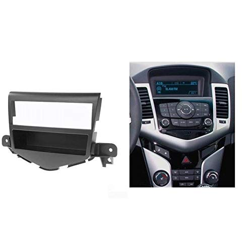 HIGHER MEN Car Accessories Parts DIN Audio Fascia for Chevrolet Cruze 2009-2012 w/Bolsillo for Radio CD estéreo DVD GPS del Panel de CD Soporte for Tablero instalación en Bastidor Kit de Acabado