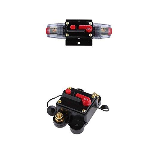 balikha Interruptor de Encendido en Línea para Automóvil de 12V-24V Interruptor de Reinicio Manual 30a