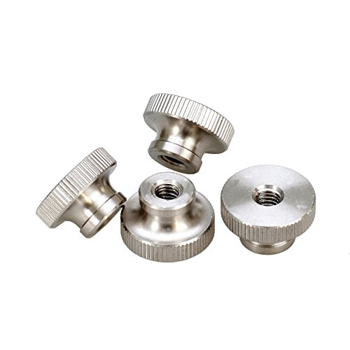 PZRT 4PCS GB806 M3 11mm Nickel-Plated Knurled Thumb Nut with Collar Eco-Friendly Carbon Steel Hand Tighten Round Nut 3D Printers Parts