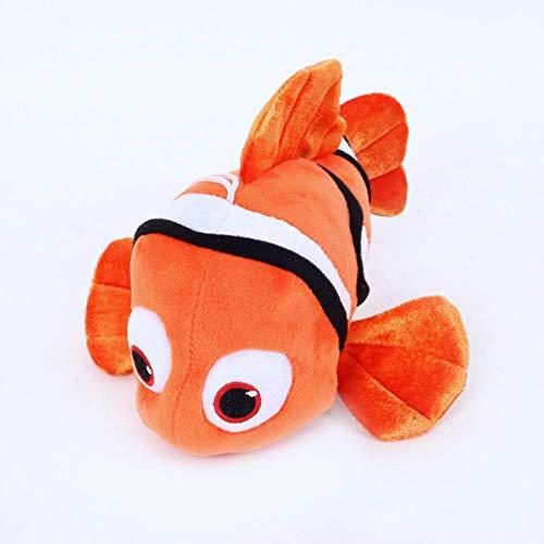 SSTOYS Netter Clownfisch Plüsch Gefüllt Spielzeug Cartoon Cartoon Nemo Plüsch Puppe Rucksack Dekoration Anhänger Auto Innen Display Puppe 25cm