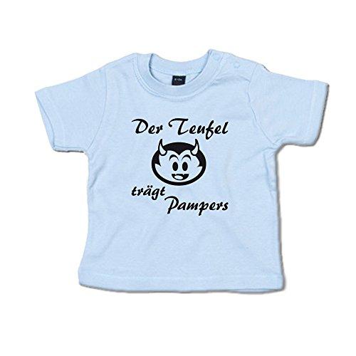 Der Teufel trägt Pampers Baby T-Shirt (266.0040) (6-12 Monate, blau)