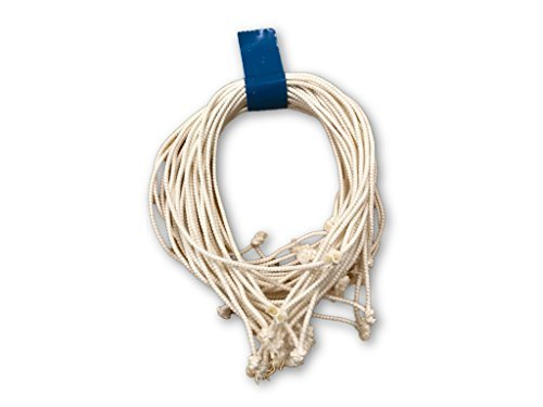 Clucker-Truss Elastic Gourmet Trussing Strings; 6 Inch White Heavy Duty (Pack of 60)