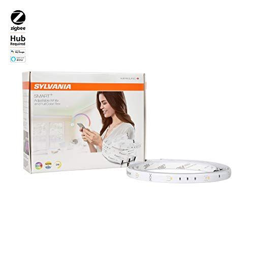 SYLVANIA Smart + ZigBee Indoor Starter Kit, Color Changing Light Strip, Works with SmartThings, Wink, and Amazon Echo Plus