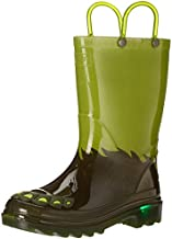 Western Chief Kids Boy's Monster Foot Lighted PVC Boot (Toddler/Little Kid) Green 10 Toddler M