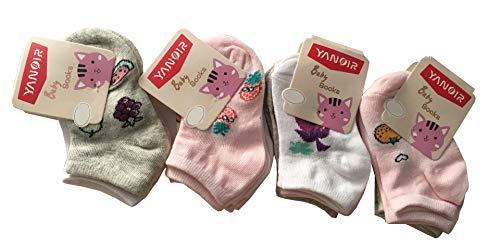 12 pares de calcetines de bebé niña de algodón – Modelo