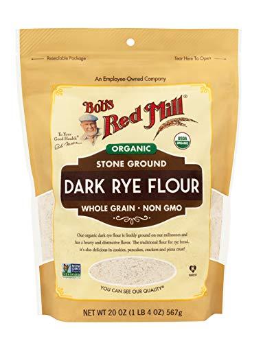 ボブズレッドミル オーガニック ダークライ フラワー (有機全粒ライ麦粉)567 g