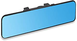 SkycropHD Anti Glare Car Interior Rear View Mirror, Clip on Wide Angle Rearview Mirror to Eliminate Blind Spots – Flat, Bl...