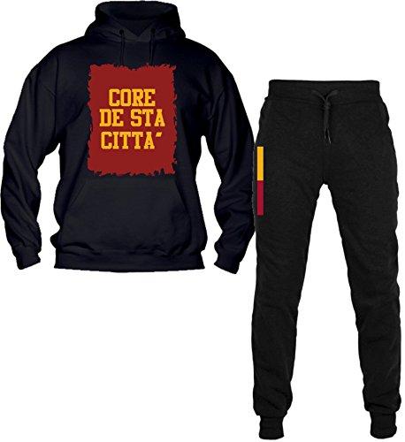 Overall met capuchon met broek met manchetten topkwaliteit top pasvorm - Core DE Sta Citta' Gelborossi as Roma Totti Il Capitano romanisti geheim Tempo Libero Sport Made in Italy