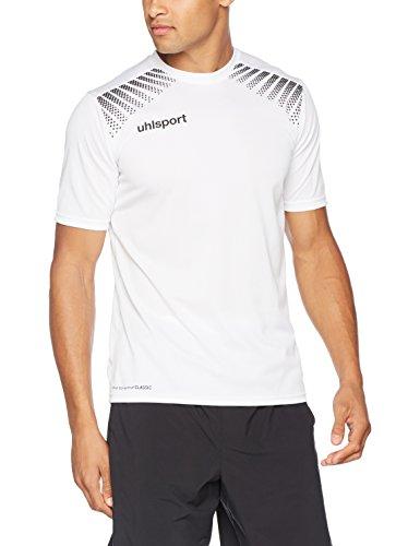 uhlsport Herren Goal Polyester Training T-Shirt, Weiß/Schwarz, 164