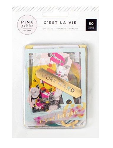 American Crafts C 'est la vie Ephemera ponsvormen 50/pkg-cardstock en acetaat W/Gold folie, andere, meerkleurig