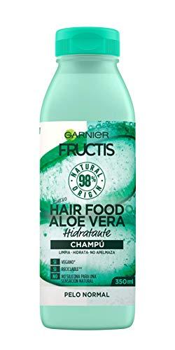 Garnier Fructis Hair Food Champú de Aloe Vera Hidratante para Pelo Normal,  Negro -  350 ml