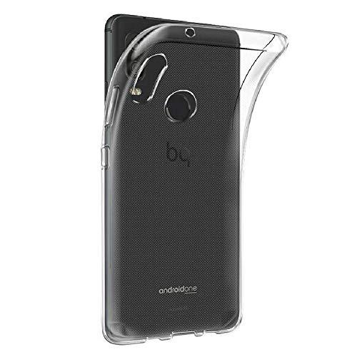 REY - Funda Carcasa Gel Transparente para BQ AQUARIS X2 - X2 Pro, Ultra Fina 0,33mm, Silicona TPU de...