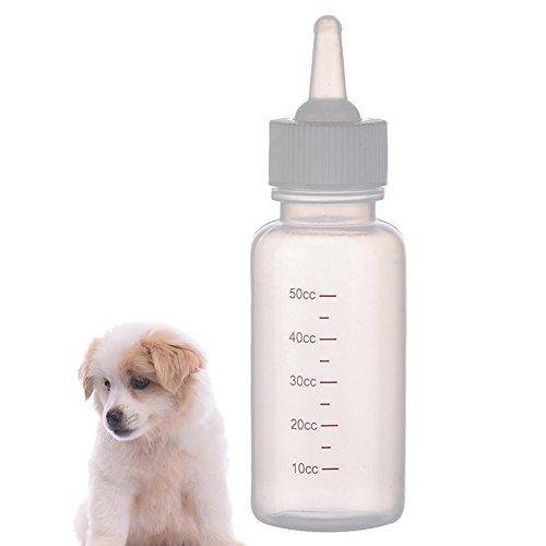 Demarkt Kleintier Aufzuchtflasche Haustier Milchflaschen Saugflasche Wasserflaschen mit Skala für Kätzchen Hündchen Kleintiere 50ml