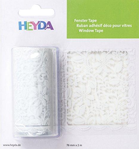 Baier & Schneider Plakfolie venster tape ornamenten, transparante folie adhesive, verwijderbaar, band