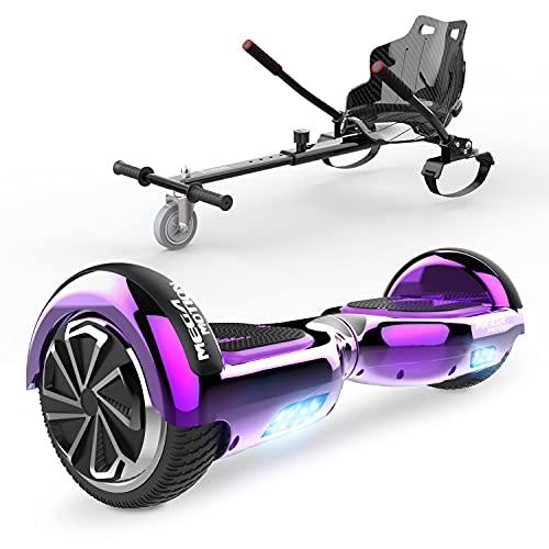 "HITWAY 6.5"" Patinete Eléctrico con Silla, Hoverboards Bluetooth, Scooter Eléctrico Asiento Kart,..."