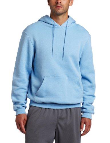 Soffe Men's Training Fleece Hooded Sweatshirt Light Blue Large