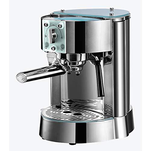 JJCFM Koffie Machine, 1250W Italiaanse Pomp Koffiemachine, Thuis En Bedrijf Espresso Volledige Semi-Automatische Stoom Type, 15Bar/Roestvrij Staal /1L, voor Home Office