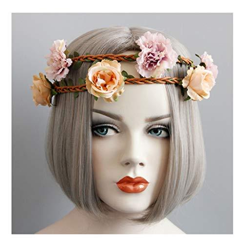 Couronne de fleurs Dames Coiffe Main Accessoires de Cheveux fête d'anniversaire Bande de Cheveux Princesse Coiffe &Guirlande de Fleurs