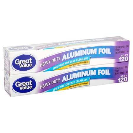 Great Value Aluminum Foil, Heavy Duty, 120 sq ft, 2 pack