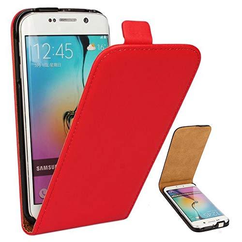 Roar Handy Hülle für Samsung Galaxy Alpha Handyhülle Rot, Flipcase Schutzhülle Tasche für Samsung Galaxy Alpha, PU Lederhülle mit Magnetverschluß