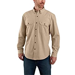 Original Fit 4. 5-ounce, 100% cotton ringspun chambray Garment washed for a soft finish and reduced shrinkage Button-down collar Two chest pockets with mitered flaps and button closures