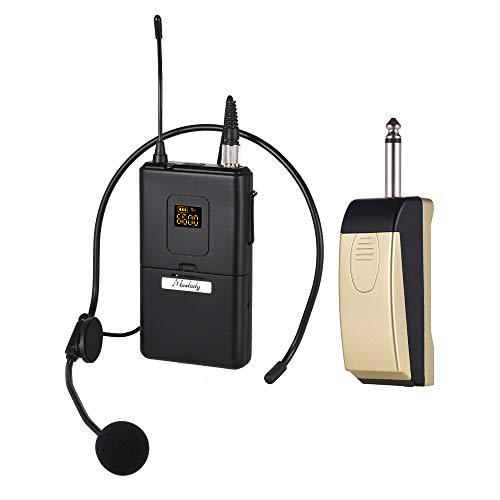 Muslady microfoon microfoonsysteem UHF draadloos met ontvanger zender headset microfoon voor zakelijke vergadering openbaar toespraak klaslokaal onderwijs Lavalier