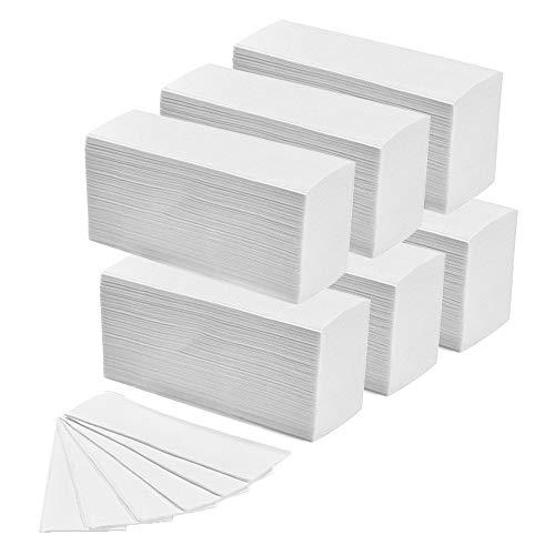 Inbagno 6 Confezioni da 150 Salviette Asciugamani Monouso, 100% Cellulosa, 24cm x 23 cm, Piegate a Z per Dispenser Carta