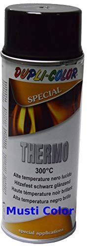 Super Hitzelack Thermolack Hochtemperatur Schwarz 300 Glänzend Auspufflack 400 ml