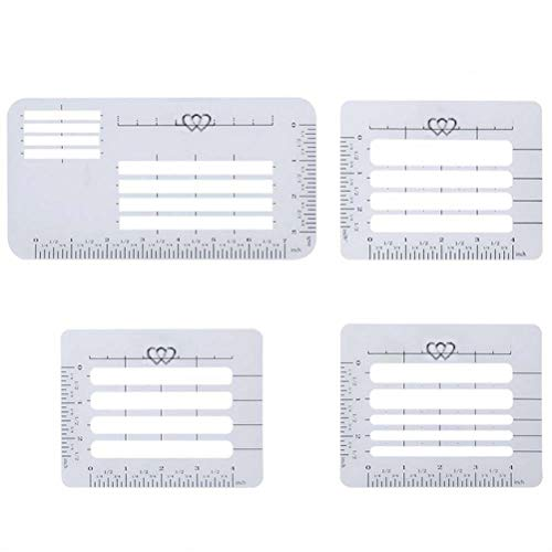 SUPVOX 4pcs Addressing Guide Stencil Templates for Envelopes Thank You Card