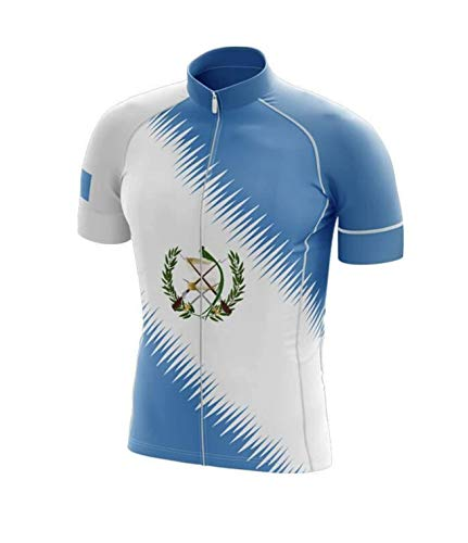 Factory8 - Country Jerseys - Love Your Country! Cycling Jerseys & Sets Collection - Team Guatemala Men's Cycling Jersey & Bib Short Set - Jersey Only - L