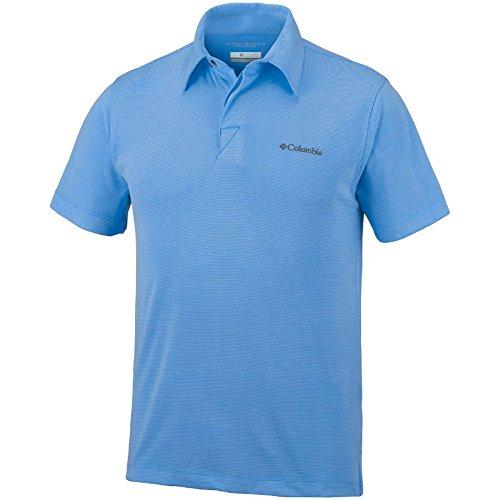 Columbia Polo à Manches courtes Homme, SUN RIDGE POLO, Modal/Polyester, Bleu Ciel (Yacht), Taille: S, EM6527