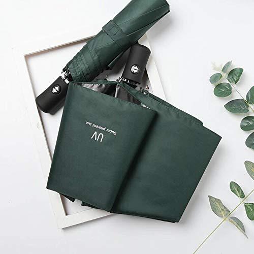 no logo YYouRuiFull-Automatic Umbrella for Men And Women Small Fresh Simple Three-Fold Rain And Sun Dual-Use Umbrella