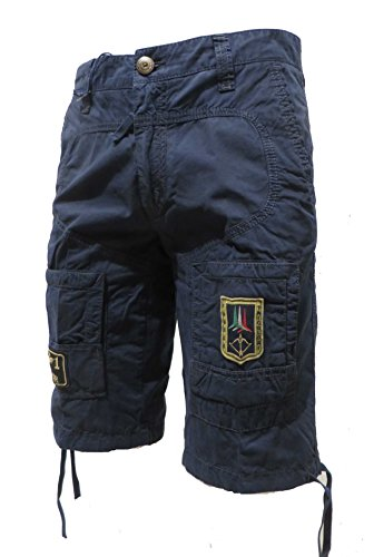 Aeronautica Militare Shorts Bermuda BE041 Blu Navy Uomo, Polo, Pantalone (S IT 46)