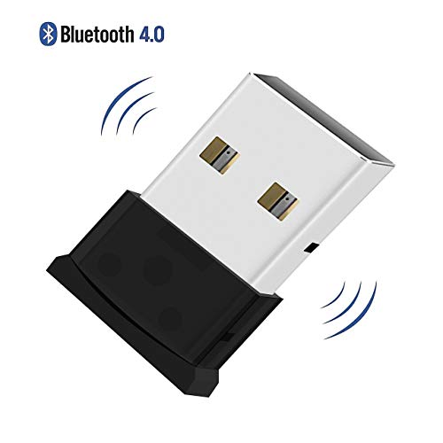 QueenDer Adattatore Bluetooth 4.0 USB Ricevitore Dongle Wireless   Low Energy   Plug And Play per PC con Windows 10 8 7 XP, Compatibile con Cuffie, Altoparlanti, Mouse Bluetooth, Tastiera