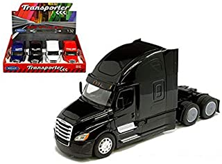 New DIECAST Toys CAR Welly 1:32 Display Tray - Transporter - Freightliner Cascadia CAB (Black, Blue, RED, White) 1 Item Random Color 32695-4D