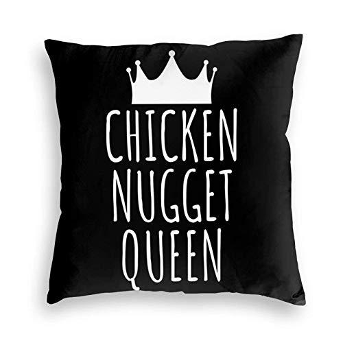 AOOEDM Pillowcase Chicken Nugget Kissenbezug Kissenbezug | Kissen | Rückenlehne | Sofa | Kissen | Stuhl | Kissen | Blau | Set | Weiß | Grau | Grün | Gr