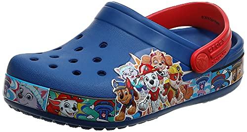 Crocs Fun Lab Paw Patrol K Unisex Niños Relaxed Fit, Azul (Azul Jeans 4gx), 34/35 EU