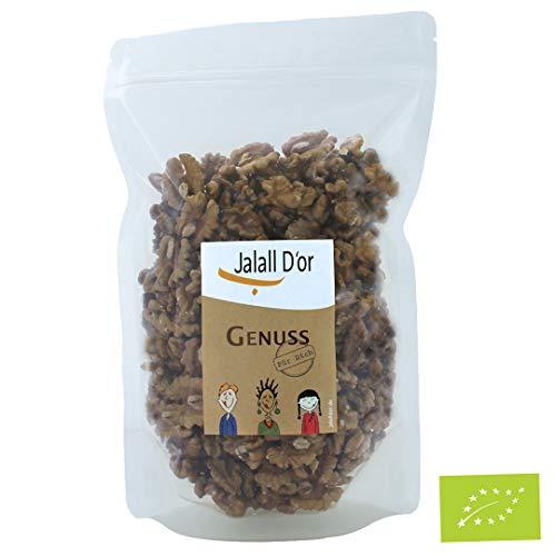 Walnüsse bio von Jalall D'or | aus OSTEUROPA | ganze Hälften | fein mildes Walnuss-Aroma | frisch abgefüllt | Walnusskerne Premium 750 g