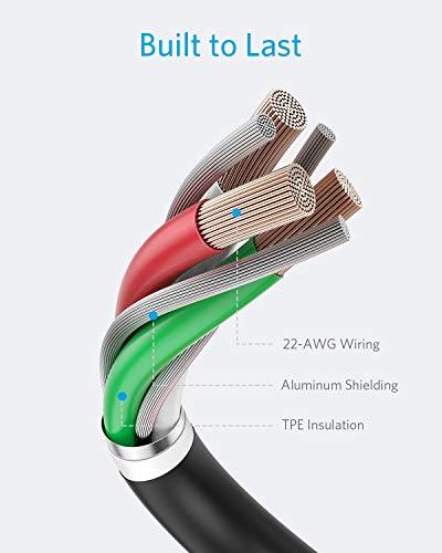 Anker iPhone Ladekabel Powerline II iPhone Kabel 3m Lightning Kabel, MFi-Zertifiziert für iPhone XS/XS Max/XR/X/ 8/8 Plus/ 7/7 Plus/ 6s/ 6/6 Plus/ 5S/ 5/ iPad Pro (Schwarz)