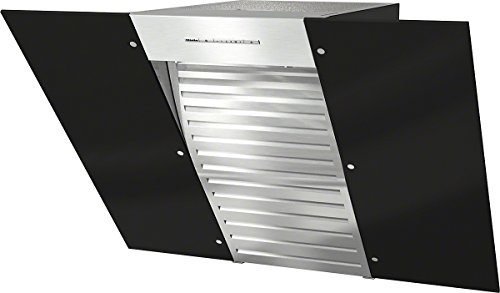 Miele DA6086W OBSW Wandhaube / 79,8 cm/ obsidianschwarz / Kopffreiheit mit Glasschirm in 80 cm Breite, Leistungsstark - 650 m³/h in der Intensivstufe