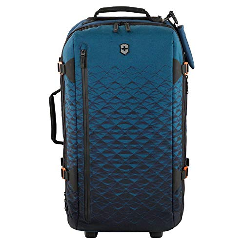 Victorinox VX Touring Wheeled Duffel with TSA Approved Locks, Dark Teal, Checked, Medium (26')