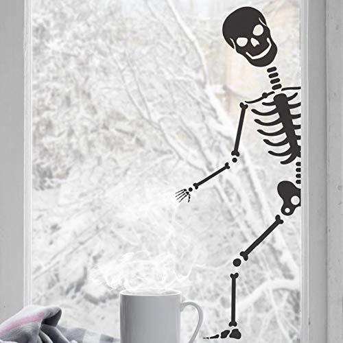 Skeleton Horror Fantasy Halloween Holiday Party Vinilo Adhesivo de pared   Adecuado para dormitorio de bebé Sala de juegos Adhesivo de pared Decoración