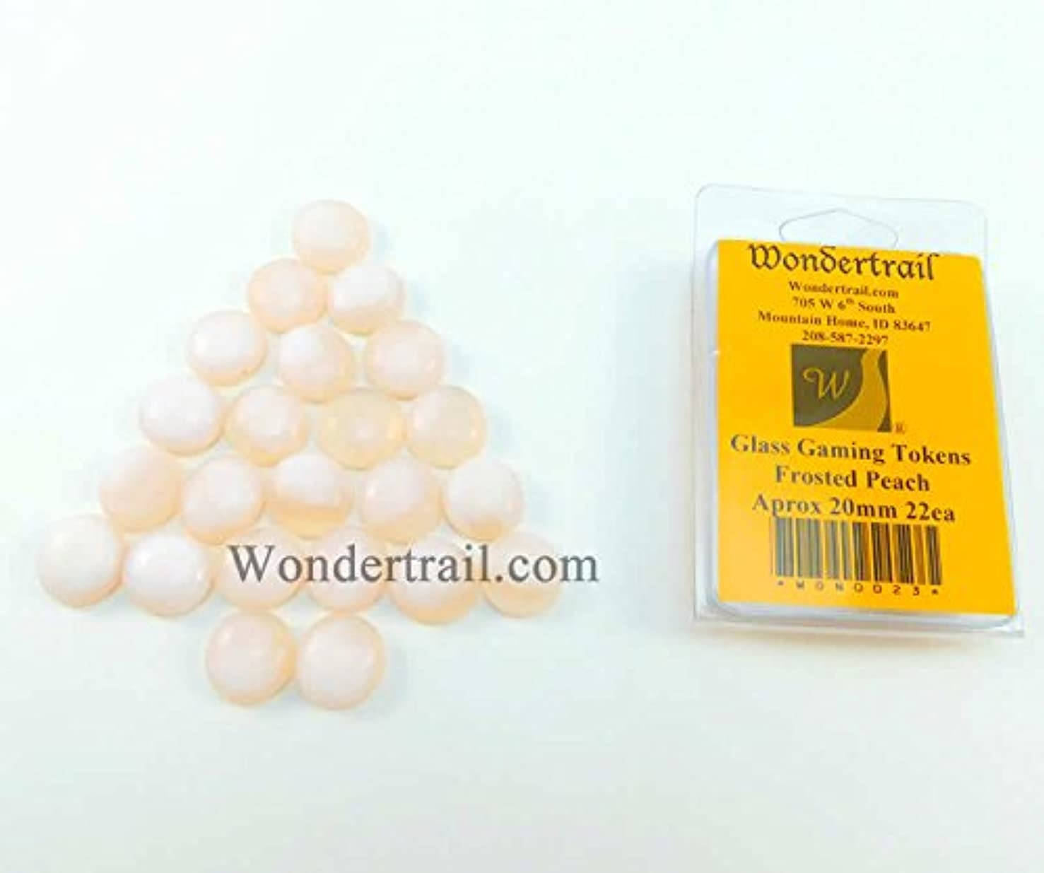 Frost Peach Gaming Counter Tokens Aprox 20mm Pack of 22 Wondertrail WON0023