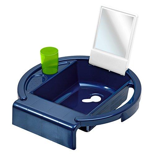 Rotho Babydesign Lavabo pour Enfants Kiddy Wash, À fixer sur le bord de la baignoire, 38,7 x 38,2 x 10 cm, Bleu, 20034025501