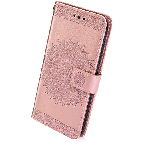 Why Should You Buy Herbests Compatible with Huawei P20 Wallet Case Embossed Totem Mandala Flower Sli...