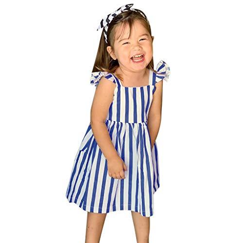 Hawaii strepen, prinsessenjurk, mouwloos, casual, chiffon, zomerjurk, babyjurk, tutu boho, rok, knielang, dames, bruiloft, feestelijk