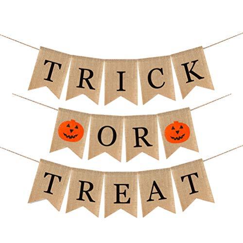 Cabilock Halloween Banner Letter Patroon Hangende Bunting Doek Hangende Garland