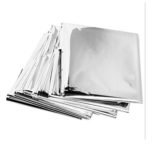 freneci 10x Outdoor Survival Waterproof Blanket Space Emergency Foil Tent Shelter - Silver 210x130cm
