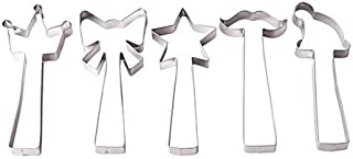 Ikea Vinterkul Pastry Cutter, Set of 5 (Crown, Bow, Star, Mustache and Knitted Cap) , Stainless Steel